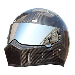 $enCountryForm.capitalKeyWord Australia - Safe Motorcycle Helmet Full Face Carbon Fiber Racing Karting Car Helmet Off Road Moto Downhill Helmet Vintage Casco Moto Casque DOT Approved
