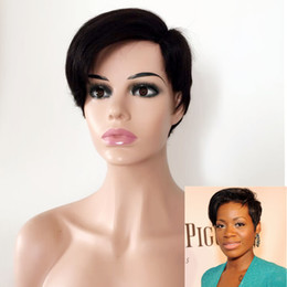 $enCountryForm.capitalKeyWord Australia - Short pixie cut Wig Human Hair Brazilian Side part Lace Front Human Hair Wigs With Baby Hair Pre Plucked Bleached Knots