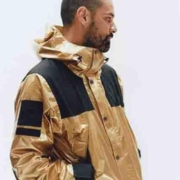 Shiny weave online shopping - 18ss Metallic Mountain Parka Metal Shiny Gold Horn King Gold Silver Copper Jacket Men And Women High Quality Jacket Hfbyjk128