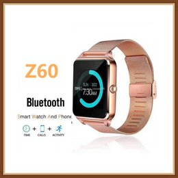 $enCountryForm.capitalKeyWord Australia - Z60 Smart Watch Bluetooth Smartwatch with Luxury Stainless Steel Support SIM and TF Card Smartwatch for IOS Android with Retail Box