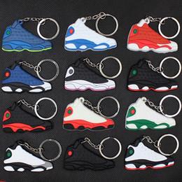 $enCountryForm.capitalKeyWord Australia - Cute Silicone Basketball Shoes Keychain Fashion Men Sneaker Keyring Kids Key Holder Woman Girl Christmas Party Gifts TTA1186