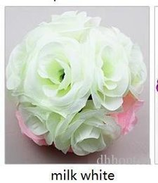 silk wedding pomanders UK - Kissing ball Wedding silk Pomander Encrypt hanging flower ball decorate artificial flower decoration for wedding party market supplies FB011
