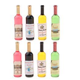 10 X 1//12 Dollhouse Miniature Resin Bottle Simulation wine Bot~er