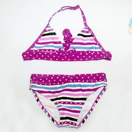 child girls bathing suits Australia - 2019 New Summer Children Split Cute Dot Swimwear Girl Bathing Suit Girl Beach Swimsuits Bikini Beach Wear Kid Bikini