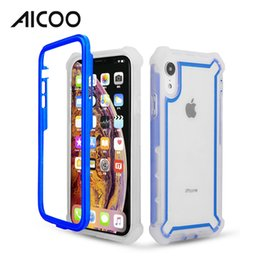 pink border iphone 2019 - AICOO Transparent Space Case Hybrid Armor Case Colorful Border Customize Shockproof Cover for iPhone XS MAX XR X OPP