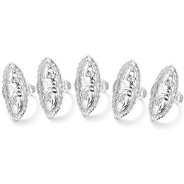 Hollow Fingers UK - Fashion New Women Fashion Retro Style Hollow Out Silver Plated Big Ring Finger Jewelry Gift New Ring