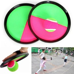 $enCountryForm.capitalKeyWord NZ - 3pcs set Ball Toys Sticky Target Racket Indoor And Outdoor Beach Fun Sports Parent-Child Interactive Throw and Catch Novelty Items HH7-981