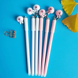 Rabbit Pens Australia - 1pc Erasable Handles Gel Pen Cute Rabbit Pendant Boutique School Supplies Stationery Vanishing Pen Student-only Erasable