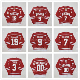 stitched patch jersey hockey UK - Boston University 3 charlie coyle 7 Charlie McAvoy 9 Jack Eichel #19 Clayton Keller 20 Diffley Red Stitched patches Custom Hockey Jersey