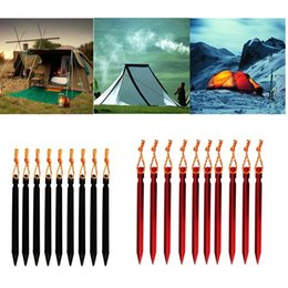 Wholesale Aluminium Alloy Tent Peg Nail Outdoor Camping Equipment Traveling Tent Building Tools Aluminium Alloy Stake with Rope