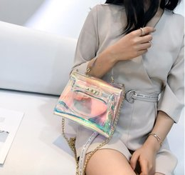 9f0be07d6e316 Laser messenger bags candy women fashion jelly Transparent handbag Plastic  shoulder bags hasp Lock Chains handbags holographic