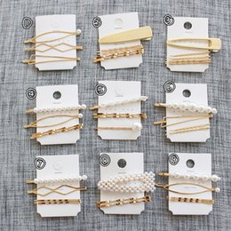 Coral Hair Accessories Australia - 3Pcs Set Pearl Metal Women Hair Clip Bobby Pin Barrette Hairpin Hair Accessories Beauty Styling Tools Dropshipping New Arrival