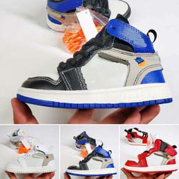 $enCountryForm.capitalKeyWord Australia - New fashion shoes box kids Original brand fashion designer shoes sneakers j1 1s 1 high basketball white black red blue grey cheap sale