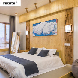 wood grain stickers NZ - 3d wall stickers waterproof bedroom living room TV background wall simulation wood grain retro anti-collision skirt wallpap