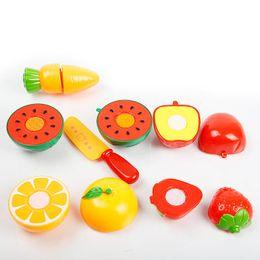Girls Kitchen Play Set Australia - Baby Kid Plastic Kitchen Miniature Food Toy Set Childern Pretend Play Toy Cut Fruit Vegetable Toys Set Funny Cutting with Basket