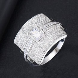 $enCountryForm.capitalKeyWord NZ - tacked Deluxe Statement Ring Monaco for Women's Wedding Cubic Zirconia Engagement Dubai Punk Bride Top Ring