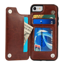 Cell Phone Case Galaxy Noted NZ - Luxury Designer Leather Case for Samsung Galaxy S10 Plus S10e S9 S8 Plus Note 9 8 S7 Edge Wallet Stand Anti-drop Cell Phone Cases Cover