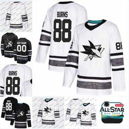Men 2019 All Star Game Jersey Erik Karlsson Brent Burns Joe Pavelski  Evander Kane Martin Jones Justin Braun Tomas Jose Sharks Hockey Jerseys b8ff84777