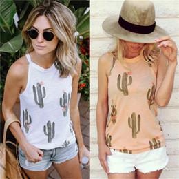 $enCountryForm.capitalKeyWord Australia - Cactus Tank Tops For Women Hot design Cactus Pattern Sleeveless T-Shirts Print Cactus Tank Casual Blouse T Shirt Hot design clothing