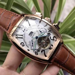 Ro watches online shopping - Brand Men Watches FM Automatic Mechanical watch Tourbillon High Quality Royal Oak Leather strap ro Mens Casual Watch Franck Business Watch