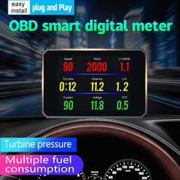 Pressure Connectors Australia - OBDSPACE P16 Auto Computer Car Diagnostic Tool obd2 Temperature MPH Turbo Boost Pressure Windshield Meter Trip Computer