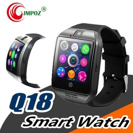 russian smart watches Australia - Smart Watch Q18 Digital Wrist with Men Bluetooth Electronics SIM Card Sport Smartwatch Camera For iPhone Android Phone PK DZ09 U8 Z60