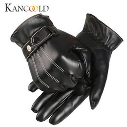 Casual Leather Gloves Australia - KANCOOLD Gloves Mens Luxurious PU Leather Winter Super Driving Warm Gloves Cashmere high quality casual men 2018NOV23
