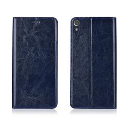 Sony Xperia Ultra Case Australia - High Quality Phone Case For Sony Xperia XA1 Ultra Genuine Cowhide Leather Phone Bag With Card Slot For Sony Xperia XA1 Ultra Flip Case