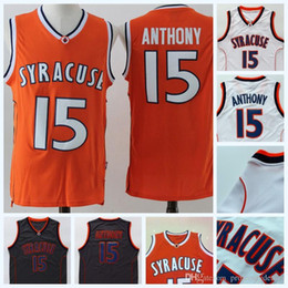 e356f20e38a Syracuse #15 Carmelo Anthony Jerseys Mens Carmelo Anthony NCAA College  Basketball Jersey Double Stitched Name and Number Fast Shipping