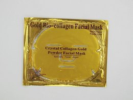 Collagen Facial Crystal Face Mask Australia - Gold Bio-Collagen Facial Masks crystal collagen gold powder king of the face mask moisturising Depth Replenishment skin care makeup DHL