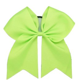 China Hair Bow 7inch Large Cheer Bow Hot sale Baby Girl Solid Ribbon Cheer Bows With Alligator Clip Handmade Girls Cheerleading Bows suppliers