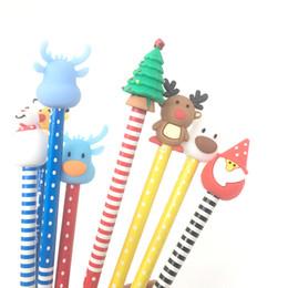 $enCountryForm.capitalKeyWord Australia - Novelty Cartoon Animal Action Figures PVC Elk Pencil Topper Plastic Mini Sucker Cup Funny Creative Kids Toy Pen Decoration Wholesale