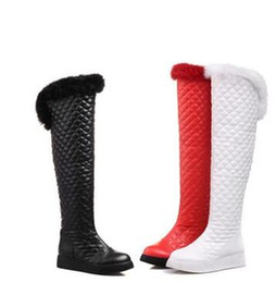 $enCountryForm.capitalKeyWord Australia - New Arrival Hot Sale Specials Super Fashion Sexy Plus Velvet Trend Package Box Rabbit Hair Winter Overknee Casual Boots EU34-39