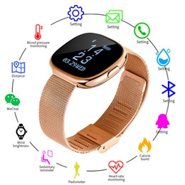 Smart Watch Iphone Android Australia - NEW Smart Bracelet Heart Rate Monitor Sleep Tracking Pedometer Fitness Watch Women Men Sport Smartwatch for iPhone Android Phone