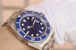 Bright Blue Watches Australia - N montre DE luxe SUB blue surface men's watch 2836 automatic watch, imported ceramic ring, super bright luminous 40mm, 300 meters waterproof