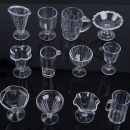 $enCountryForm.capitalKeyWord Australia - Modern Clear Transparent Plastic Mini Ice Cream Cup Tableware Doll House Miniatures Craft for Kids Gifts Kitchen Toys 12Pcs Set