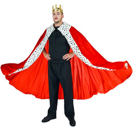 king costumes NZ - Men Luxury King Costume With cape&crown For Adults Mens Role Play Party Performance For Halloween Party Cosplay King Costumes