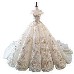 $enCountryForm.capitalKeyWord UK - wholesale Off the Shoulder Wedding Dress Bride Luxury Long Trailing Court Dresses vestido de noiva N1029
