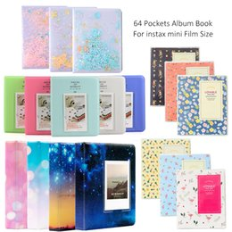 mini photo stickers Canada - Optional 64 Pockets Photo Film Album   Wall Album  Corner Stickers For FujiFilm Instax Mini 8, Mini 9 7s 50 90 Fuji Films