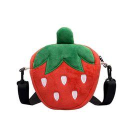 $enCountryForm.capitalKeyWord Australia - Fun Cute Cartoon Strawberry Radish Cookies Cotton Bags For Women Handbag Purse Mini Crossbody Bags Ladies Shoulder Messenger Bag