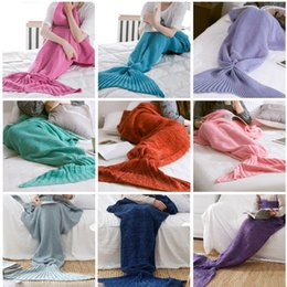 Kings furniture online shopping - Mermaid Tail Blanket Crochet Mermaid Blanket For Adult Super Soft All Seasons Sleeping Knitted Blankets fashion furniture textil