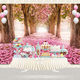Discount cartoon photography background - Customize home decoration Photography Backdrop Studio Background Cartoon Baby Kid Party Birthday photo background G-072