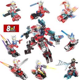 $enCountryForm.capitalKeyWord Australia - 8 in 1 Universe Giant Ultraman Jack Ace Taro Leo Ultra Seven Zoffy UItra Seven Mini Toy Figure Building Block Toy For Boy