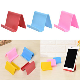 Kunststoff-Telefonhalter Feste Halter Candy Farbe Küchenorganisator Mini Tragbare Visitenkartenhalter Handy Ständer Haushalt