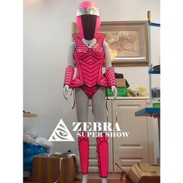 blue zebra clothes UK - Future cosplay clothes technology costumes geometric splicing armor gogo sexy costume nightclub women party armor