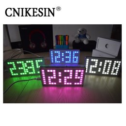 computer clock NZ - Freeshipping DIY Kit DS3231 Adjustable Large size Lattice clock Electronic Kits Digital Clock With Acrylic Case
