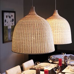 $enCountryForm.capitalKeyWord Australia - Modern Wood chandelier Japanese style rattan lampshade wicker pendant lamp Restaurant Bar Shop indoor home Rattan chandelier