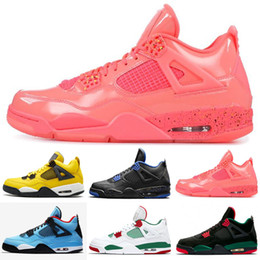 caf7b29dfb92 2019 Bred 4 Basketball Shoes 4s Pale Citron Pizzeria Lightning Singles Day  Tattoo LASER Hot Punch Oreo Mens Sports Sneakers 7-13