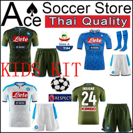 $enCountryForm.capitalKeyWord NZ - Naples kids kit soccer Jersey 19 20 Home away third White blue green CALLEJON MERTENS HAMSIK PLAYER boy set 2019 2020 Football shirt child