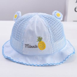 mesh hats baby Canada - 2020 girl spring and summer fisherman bucket bucket baby boy hat baby sun hat thin summer mesh breathable